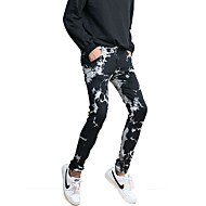 Herre Simple Jeans Bukser Farveblok