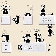 Dieren Muurstickers Vliegtuig Muurstickers Decoratieve Muurstickers Lichtknop Stickers, Vinyl Huisdecoratie Muursticker Switch Wand