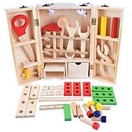 Wooden Child Carpenter Construction Tool Box Alati Fin drven Dječaci Dječji Poklon 35 pcs