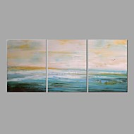 cheap Oil Paintings-Oil Painting Hand Painted - Abstract Landscape Comtemporary Modern Canvas