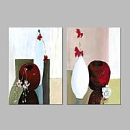 billiga Berömda målningar-HANDMÅLAD Känd Horisontell Panoramautsikt, Vintage Duk Hang målad oljemålning Hem-dekoration Två paneler