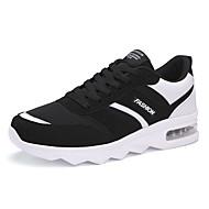 tanie Small Size Shoes-Męskie Wygodne loafery PU Jesień / Zima Mokasyny i buty wsuwane Czarny / Czarny i biały / Czarny czerwony