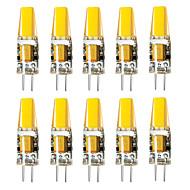 billige Bi-pin lamper med LED-BRELONG® 10pcs 3W 800lm G4 LED-lamper med G-sokkel 1 LED perler Varm hvit Hvit