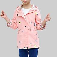 Djevojčice Umjetna svila Cvjetni print Dnevno Izlasci Proljeće Jesen Dugih rukava Baloner Ležerne prilike Ulični šik Blushing Pink
