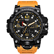 cheap -SMAEL Men's Sport Watch Military Watch Bracelet Watch Digital Quilted PU Leather Black / Blue / Red 30 m Water Resistant / Waterproof Alarm Calendar / date / day Analog-Digital Charm Luxury Vintage