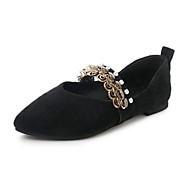 baratos Sapatos Femininos-Mulheres Sapatos Couro Ecológico Primavera Verão Solados com Luzes MaryJane Conforto Sandálias Salto Baixo Salto Plataforma Peep Toe