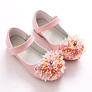 Djevojčice Cipele Umjetna koža Proljeće Jesen Obuća za male djeveruše Balerinke Ravne cipele Mat selotejp Cvijet za Vjenčanje Zabava i