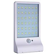 billige Utendørs Lampeskjermer-1pc 3 W Wall Light Vanntett / Solar / Infrarød sensor Hvit 3.7 V Utendørsbelysning 36 LED perler