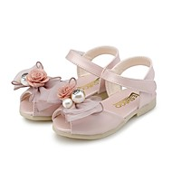 baratos Sapatos de Menina-Para Meninas Sapatos Courino Verão Conforto Sandálias Laço / Pérolas para Roxo Claro / Rosa claro