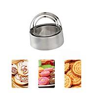 billige Bakeredskap-3pcs Rund For Godteri Til Kake Sjokolade For Småkake Til Småkake Rustfritt Stål 430 GDS Høsttakkefest Bursdag Bryllup baking Tool