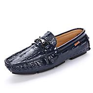 baratos Sapatos de Tamanho Pequeno-Homens Mocassim Borracha Primavera / Outono Sapatos de Barco Preto / Marron / Azul
