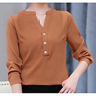 Women's Holiday Basic Cotton Shirt V Neck