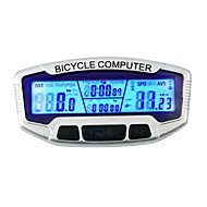 billige Sykkelcomputere og -elektronikk-SD-558A Sykkelcomputer Stopur bakgrunnsbelysning LCD Speedometer Tredet Kilometerteller Utendørs Sykling