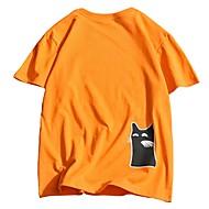 Homens Camiseta Estampado, Animal