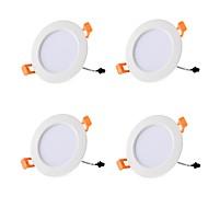 baratos Luzes LED de Encaixe-4pçs 9W 20 LEDs Instalação Fácil Encaixe Downlight de LED Branco Quente Branco Frio 85-265V