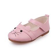 baratos Sapatos de Menina-Para Meninas Sapatos Couro / Couro Ecológico Primavera / Verão Conforto Rasos para Branco / Preto / Rosa claro