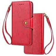 billiga Mobil cases & Skärmskydd-fodral Till Xiaomi Redmi 5 Redmi 5 Plus Korthållare Plånbok Lucka Magnet Fodral Enfärgad Hårt Äkta Läder för Xiaomi Redmi 5 Xiaomi Redmi
