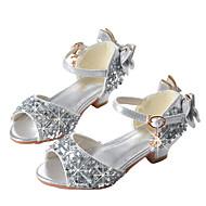 baratos Sapatos de Menina-Para Meninas Sapatos Glitter Verão Inovador / Sapatos para Daminhas de Honra Sandálias Laço / Lantejoulas / Presilha para Dourado / Prata