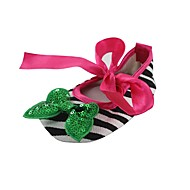 cheap Baby Shoes-Girls' Shoes Fabric Spring Fall Crib Shoes First Walkers Comfort Flats Bowknot Ribbon Tie for Wedding Dress Green