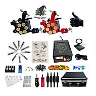 cheap Starter Tattoo Kits-Tattoo Machine 2 rotary machine liner & shader Alloy Handmade Voltage Adjustable Boutique Suits Professioanl Use