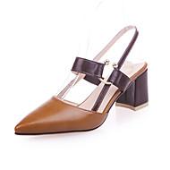 abordables Talons pour Femme-Femme Chaussures Polyuréthane Automne Escarpin Basique Chaussures à Talons Block Heel Bout pointu Fleur Noir / Vert / Kaki / Habillé
