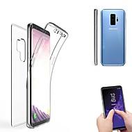 billiga Mobil cases & Skärmskydd-fodral Till Samsung Galaxy S9 Plus / S9 Genomskinlig Fodral Enfärgad Mjukt Silikon för S9 / S9 Plus / S8 Plus