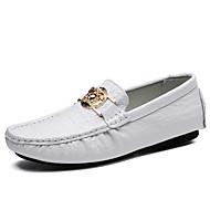お買い得  メンズデッキシューズ-男性用 靴 ラバー 春 秋 モカシン ボート用シューズ のために アウトドア ホワイト ブラック ダークブルー Brown グリーン