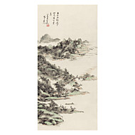 cheap Prints-Rolled Canvas Prints Classic, One Panel Brocade Xuan paper Vertical Print Wall Decor Home Decoration
