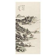 halpa Tulosteet-Valssatut kangasjulisteet Klassinen, 1 paneeli Brokadi Xuan-paperi Pysty Painettu Wall Decor Kodinsisustus