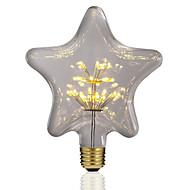 billige Globepærer med LED-BRELONG® 1pc 3W 300 lm E26/E27 LED-globepærer 30 leds SMD Stjernefull Dekorativ Gul 220V-240V