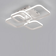 billige Taklamper-4-hode kvadrat moderne enkelhet ledet taklamp stue spisestue soverom lysarmatur