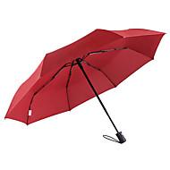 baratos Mais Populares-boy® Tecido Homens / Mulheres Ensolarado e chuvoso / Prova-de-Vento / novo Guarda-Chuva Dobrável