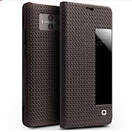 billiga Mobil cases & Skärmskydd-fodral Till Huawei Mate 10 Stötsäker / med fönster / Lucka Fodral Ensfärgat Hårt Äkta Läder för Mate 10