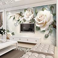 billige Tapet-Blomstret Art Deco 3D Hjem Dekor Vintage Moderne Tapetsering, Lerret Materiale selvklebende nødvendig Veggmaleri, Tapet