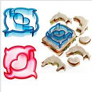 billige Bakeredskap-5pcs Nyhet for Sandwich Plastikker Høy kvalitet Kreativ baking Tool Pieverktøy