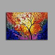 billiga Stilleben-Hang målad oljemålning HANDMÅLAD - Stilleben Blommig / Botanisk Samtida Vintage Duk