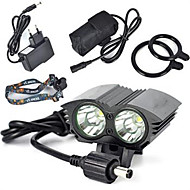 cheap -Headlamps Bike Lights Front Bike Light LED LED Cycling Professional Anti-Shock Wearproof Easy Carrying Rechargeable Battery 6000 Lumens