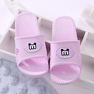 tanie Pantofle-Zwyczajny Pantofle Pantofle damskie Poliester Skóra PVC Jeden kolor