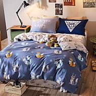 cheap Duvet Covers-Duvet Cover Sets Cartoon 4 Piece Poly/Cotton Reactive Print Poly/Cotton 1pc Duvet Cover 2pcs Shams 1pc Flat Sheet