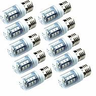 billige Kornpærer med LED-10pcs 3.5W 250lm E14 E26 / E27 LED-kornpærer T 26 LED perler SMD 5050 Grønn 220-240V