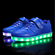 baratos Sapatos de Menino-Para Meninos / Para Meninas Sapatos Couro Ecológico Primavera / Outono Conforto / Tênis com LED Tênis Caminhada Cadarço / Colchete / LED