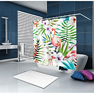 cheap Shower Curtains-Shower Curtains & Hooks Country Polyester Animal Machine Made Waterproof