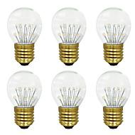 billige Globepærer med LED-BRELONG® 6pcs 3W 300lm E26 / E27 LED-globepærer 17 LED perler SMD Varm hvit 220-240V