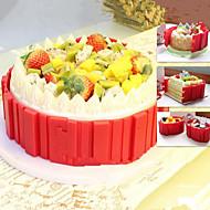 billige Bakeredskap-4stk Rektangulær Dagligdags Brug Kake Silikon Multifunksjonell Cake Moulds