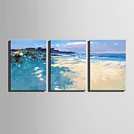 cheap Wall Art-Print Stretched Canvas - Abstract / Landscape Modern Three Panels