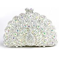 baratos Clutches & Bolsas de Noite-Mulheres Bolsas vidro Bolsa de Festa 5 Pcs Purse Set Flor Prata