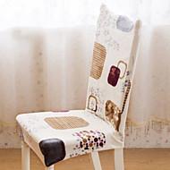 billige Overtrekk-Kunstnerisk Stil Moderne Stil 100% Polyester Mønstret Stoltrekk, Enkel Trykt mønster Trykket slipcovere