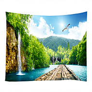 cheap Wall Decor-Garden Theme Landscape Wall Decor 100% Polyester Contemporary Wall Art, Wall Tapestries of
