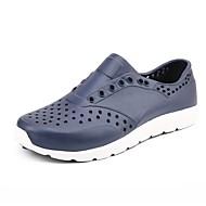 baratos Sapatos Masculinos-Homens Borracha Verão Conforto Tênis Preto / Azul Escuro / Vermelho