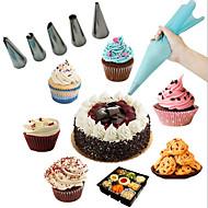 billige Bakeredskap-6pcs Mini Multifunktion Kake Rustfritt Stål Multifunksjonell Kreativ Kjøkken Gadget Dessert dekoratører